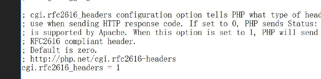 以CGI模式运行PHP
