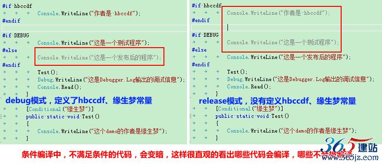 VS_debug_release颜色对比