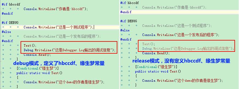 resharper_debug_release颜色对比
